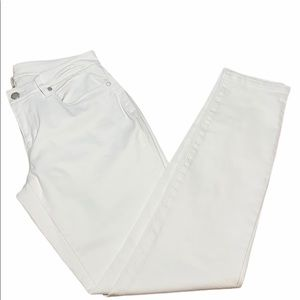 Eileen Fisher White Straight Leg Jeans